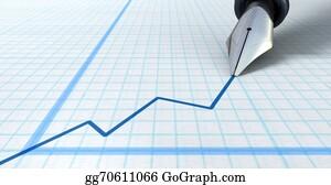 Increase - Fountain Pen Drawing Increasing Graph