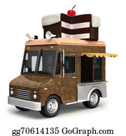 Food-Truck - Food Truck With Cake