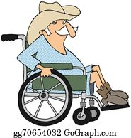 Cowboy-Boots - Cowboy In A Wheelchair