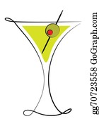 Martini-Glass - Martini Glass With Olive