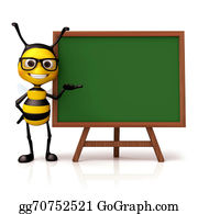 Stinging-Insect - Bee Hold And Green Board