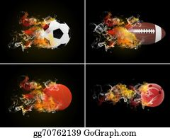 Flaming-Basketball - Collection Sport Balls
