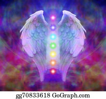 Guardian-Angel - Angel Wings And Seven Chakras