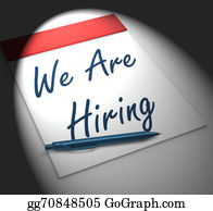 Employment - We Are Hiring Notebook Displays Employment Recruitment Or Person