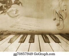 Sheet-Music - Music Background - Vintage Piano