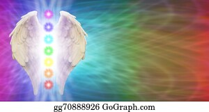 Heavenly - Angel Chakra Wings Banner