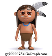 Apache - 3d Native American Indian