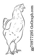 Hen - Sketch Of A Hen