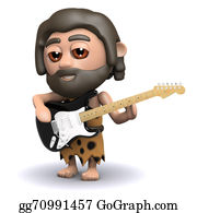 Ice-Age - 3d Caveman Plays Electric Guitar
