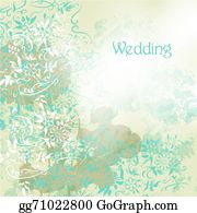 Vintage-Floral-Blue-Frame-Vector - Wedding Background With Floral Swirls In Grunge Vintage Style