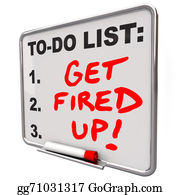 Spurs - Get Fired Up Excited Ready Succeed Words To Do List Board