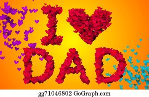 I-Love-You-Dad - I Love Dad Particles Heart Shape 3d