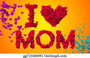 I-Love-You-Dad - I Love Mom Particles Heart Shape 3d