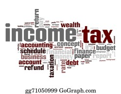 Income-Tax - Income Tax Word Cloud