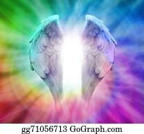 Meditative - Angel Wings On Rainbow Spiral