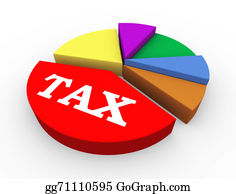 Government-And-Economy - 3d Tax Pie Chart Presentation