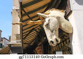 Beautiful-Unicorn - Unicorn Head On The Facade Of A Building In Venice, Italy