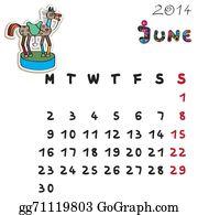 Calendar-For-January-2014 - Color Horse Calendar 2014 June