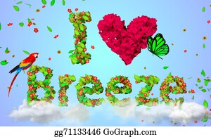 Wind - I Love Breeze Leaves Particles 3d