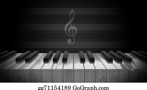 Music-Notes-On-Piano-Keyboard - Piano Keys