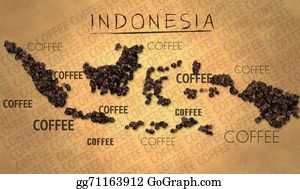 Indonesia - Indonesia Map Coffee Bean Producer