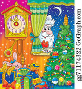 Grandfather-Clock - Santa Claus