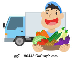 Food-Truck - Vegetable Delivery Man