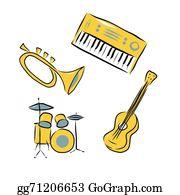 Drum-Set - Musical Instruments Set