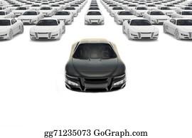 Car-Lot - Black Sports Car Leaving The Pack