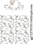 Lamb - Seamless Lamb Pattern