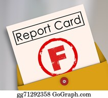 Letter-F - F Failing Grade Score Report Card Poor Performance Failure