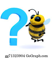 Bee-Hive - 3d Honey Bee Question Mark