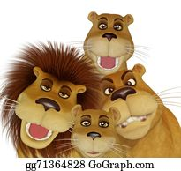 The-Family-Cat - 3d Cartoon Lion Family