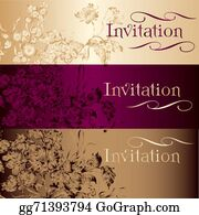 Classic-Victorian-Pattern - Collection Of Vector Invitation Cards In Vintage Style