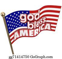 God - God Bless America Usa Flag United States Religion Motto