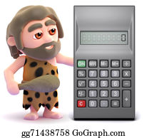Ice-Age - 3d Caveman Finds A Calculator