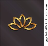 Golden-Lotus-Flower-Logo - Luxury Gold Lotus Plant Image Logo