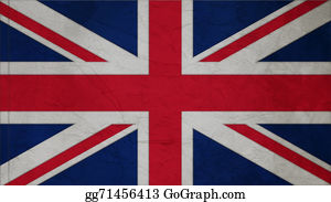 Crepes - United Kingdom Flag Crepe Paper Texture
