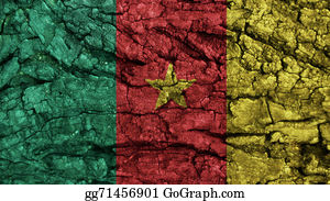 Crepes - Cameroon Flag Rough Texture