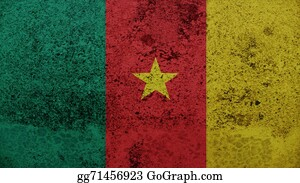 Crepes - Cameroon Flag On The Old Wall