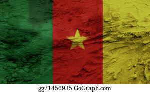 Crepes - Cameroon Flag Painting Texture