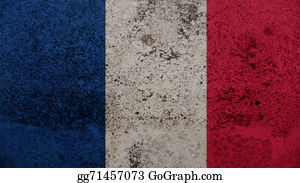 Crepes - France Flag On The Old Wall Texture