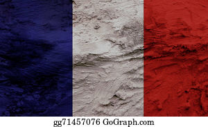 Crepes - France Flag Painting Texture
