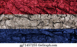 Crepes - Netherlands Flag Rough Texture