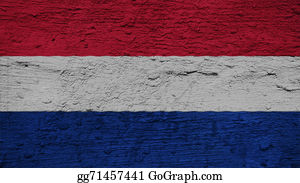 Crepes - Netherlands Flag On The Wall Texture