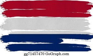 Crepes - Netherlands Flag Tinted Horizontal Texture