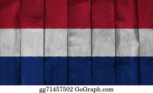 Crepes - Netherlands Flag On The Wood Texture