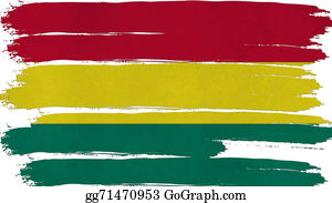 Crepes - Bolivia Flag Tinted Horizontal Texture