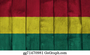 Crepes - Bolivia Flag On The Wood Texture