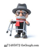 Geriatrics - 3d Grandpa Is Feeling Fit